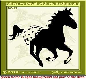Appaloosa Horse Custom Window Trailer Decal Sticker 492