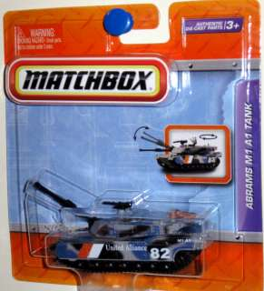 Abrams M1 A1 Tank w/Full Fuction Turret Matchbox 2012 Premium Working