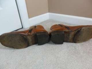 Vintage Nunn Bush 7.5 E Brown Leather Ankle Boots RETRO