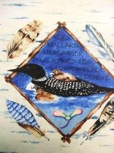 Clothwork Lake Lodge Animal Forest Bird Owl Loon Fabric