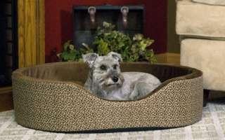 CUDDLE SLEEPER DOG BED SMALL MOCHA PAW BONE 6 55199 07701 4