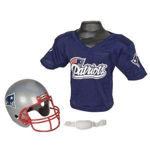 New England Patriots Kids/Youth/Boys NFL Football Helmet/Jersey, Small