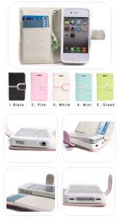 Wallet style iPhone4 Case iPhone 4S case for Apple