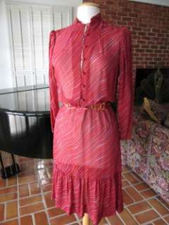 GUY LAROCHE VINTAGE SILK PEASANT DRESS~FRANCE~S/M