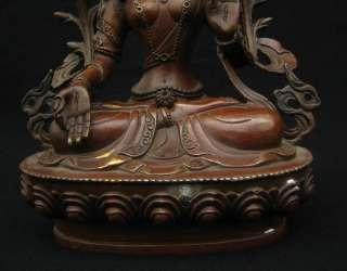 Old Tibetan Purple Bronze White Tara Statue Nepal