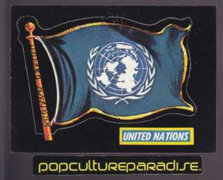 1970 TOPPS FLAGS OF THE WORLD CARD # 77 United Nations
