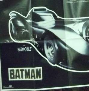 BATMAN posters: Batman logo & the BATMOBILE!!! Large sizes, new