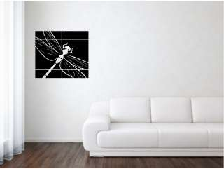 Dragon Fly w/ Lines Wall Art Vinyl Decor Sticker Quote Decal