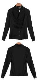 Victorian Retro Women Tops NEW Noble Ruffle Slim OL Shirt SH15#