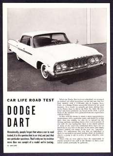 1961 Dodge Dart Sedan Road Test & Technical Data