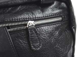 Jasminesmart Wholesale Genuine Cowhide Leather Messenger Backpack