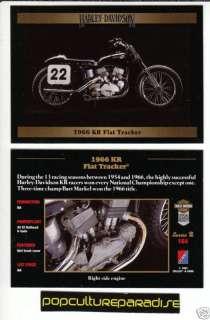 1966 66 HARLEY DAVIDSON KR FLAT TRACKER MOTORCYCLE CARD