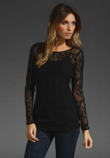 ELLA MOSS Underella Lace Long Sleeve in Black