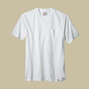 Dickies Large White Pocket T Shirts (2 pack) 1144624WHL at The Home
