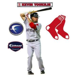 Fathead 16 In. X 34 In. Kevin Youkilis Boston Red Sox Wall Appliques
