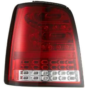 Litec LED Rückleuchten VW Touran 2003+ red/crystal:  Auto