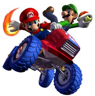 MARIO & LUIGI KART Fire Wall Decal NEW