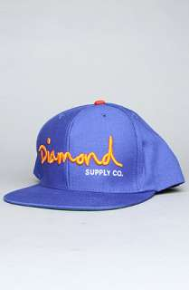 Diamond Supply Co. The OG Logo Snapback Cap in Royal Orange White