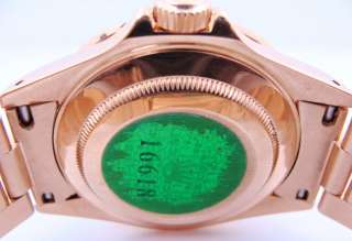 Mens Rolex Oyster Perpetual 18K Gold Submariner Watch