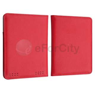 Leather Pouch Case Cover Jacket for  Kindle Touch Red