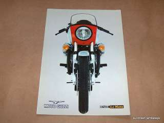 NOS Vintage Moto Guzzi 850 Lemans MK1 Brochure Excellent RED