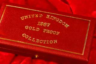 1987 UK Dragon George 3 GOLD COIN .99 OZ PROOF SET COA