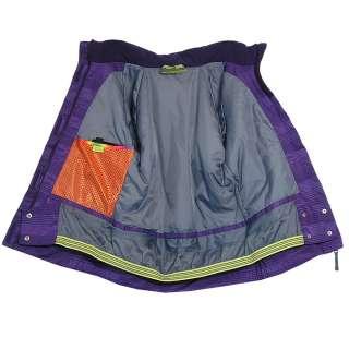 ZIENER AIM Gr. L Damen Skijacke Snowboardjacke dark purple stripe