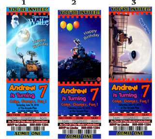 Wall e Walle Wall e Birthday Party Invitations Favors