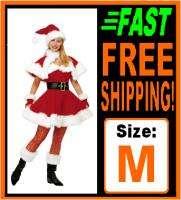 Deluxe VELVET Sexy Ms Miss Mrs Santa Claus Costume Med