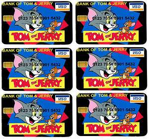 Tom and Jerry Credit Cards Party Bag Fillers X6