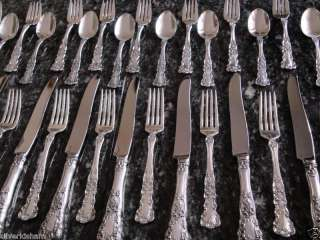 OLD MARK GORHAM BUTTERCUP STERLING SILVER FLATWARE SET *TRUE DINNER