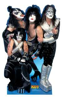 KISS ROCK BAND (GENE SIMMONS) LIFESIZE CARDBOARD CUTOUT
