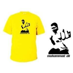 MUHAMMAD ALI im Ring T SHIRT gelb S   XXL  Sport & Freizeit