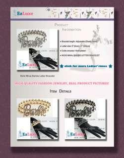 Iced NICKI MINAJ Barbie letter font ball chain BRACELET