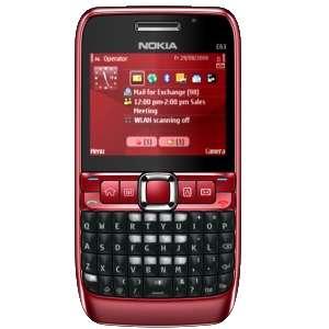 Nokia E63 ruby red (QWERTZ Tastatur, Ovi, UKW Stereo Radio, UMTS, GPRS