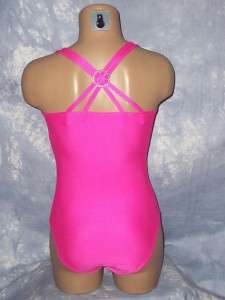 pink green GYMNASTICS LEOTARD twirl dance costume ballet jazz tap