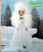 Crochet Fashion Doll Pattern BRIDE GOWN / SNOW GOWN