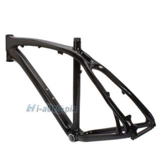 Full Carbon 26er Mountain Bike Bicycle MTB Frame 20 & Fork 52mm Black
