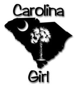 CAROLINA GIRL PALM TREE MOON VINYL DECAL STICKER (St2)