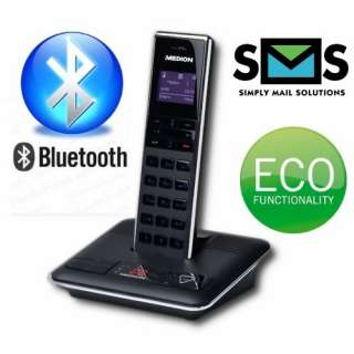 DECT Telefon Bluetooth Full ECO Funktion SMS GAP CLIP LED