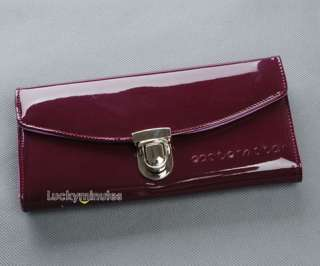 pcs in 5 Color Patent Leather Buckle Design Wallet Purse Card Holder