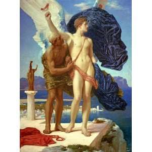 Kunstreproduktion: Lord Frederick Leighton Daedalus and Icarus 53 x
