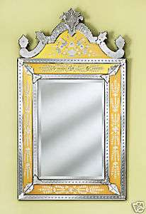 LARGE GOLD NATASHA VENETIAN HAND CUT GLASS WALL MIRROR