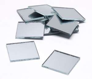 60 Pieces   1/2 inch Square Glass Mirrors   Mosaic Wedding