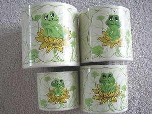 Vintage Neil Frog Cannister Set  1977 RARE