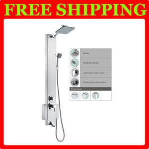 Stainless Steel Shower Panel Tower Rain Overhead Spa 5