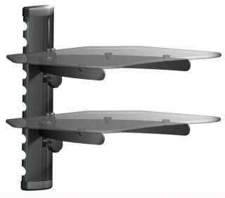 Cable Box Wall Mount Shelf Stand BELL TV Glass Receiver Stand