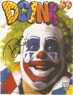 DOINK THE CLOWN 8 X 10 AUTO WWE WWF HAND SIGNED