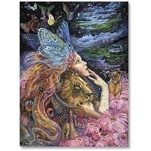 Heart & Soul von Josephine Wall   Elfe/Löwe   Geburtstagskarte