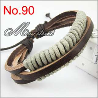 New Fashion Hemp Leather Handmade Bracelet / Wristband / Cuff Cool